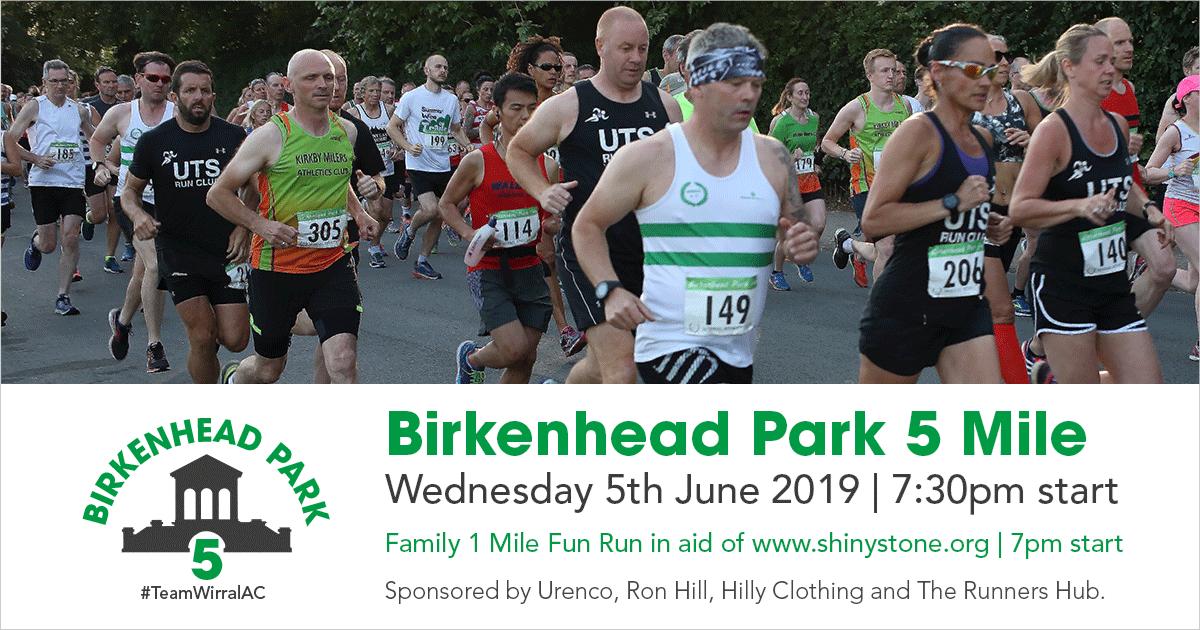 Birkenhead Park 5 2019 Start List